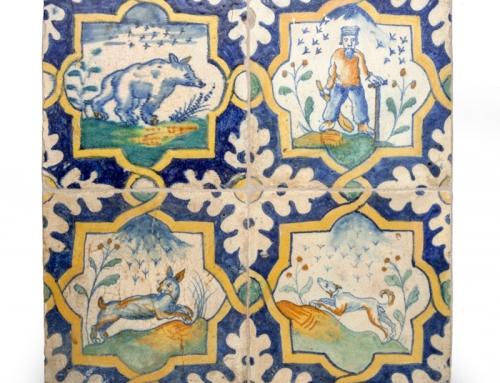 Verkoopexpositie antieke Nederlandse tegels en aardewerk